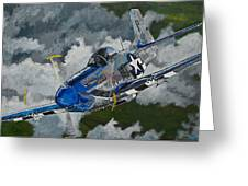 P-51 Mustang Over Germany Greeting Card
