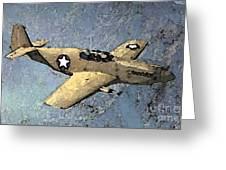 P51 Mustang In Flight Greeting Card
