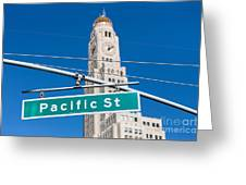 Pacific Street I Greeting Card