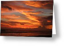Pacific Sunset Costa Rica Greeting Card