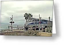 Pacific Surfliner Amtrak Train Greeting Card by Traci Lehman