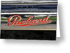 Packard Name Plate Greeting Card