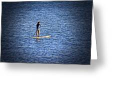 Paddle Boarding Greeting Card