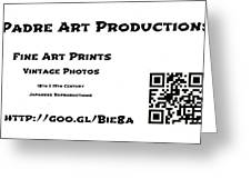 Padre Art Productions Qr Card Greeting Card by Padre Art