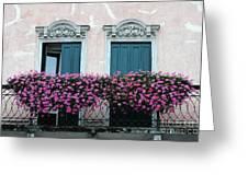 Padua Balcony And Window Boxes Greeting Card