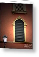 Padua Window And Lamp Light Padua Italy Greeting Card
