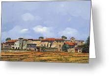 Paesaggio Aperto Greeting Card by Guido Borelli