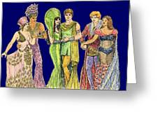 Pageant Couples Greeting Card