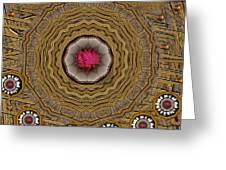 Pagoda Of Lotus Pop Art Greeting Card