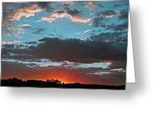 Pagosa Springs Colorado Sunset Greeting Card