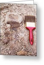 Paint Brush Next To Camarasaurus Greeting Card