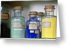 Paint Pigment Samples Used In Forgery Detection Greeting Card