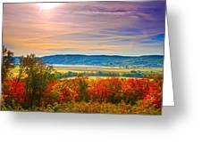 Paint Valley From Valley View Golf Greeting Card