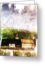 Painted Countryside Greeting Card