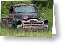 Painted Gmc Truck Greeting Card