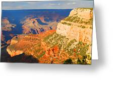 Painted Grand Canyon Before Sunset Greeting Card