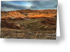 Painted Hills In The Fossil Beds Greeting Card