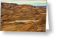 Painted Hills Lake Greeting Card