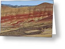 Painted Hills Panoramic Greeting Card
