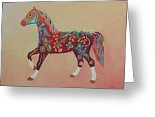 Painted Horse A Greeting Card