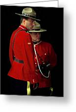 Painted Mounties Greeting Card