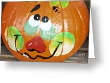 Painted Pumpkin 3 Greeting Card