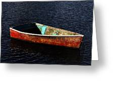Painted Row Boat Greeting Card