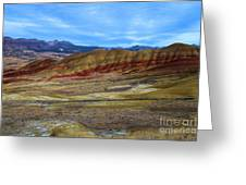 Painted Sky Over Painted Hills Greeting Card