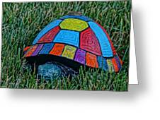 Painted Turtle Sprinkler Greeting Card