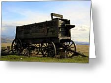 Painted Wagon Greeting Card