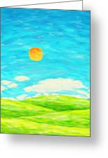 Painting Of Nature In Spring And Summer Greeting Card