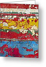 Painting Peeling Wall Greeting Card by Garry Gay