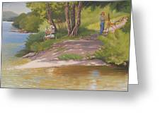 Painting The River Greeting Card