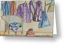 Pajamas Greeting Card by Jennifer Dewey