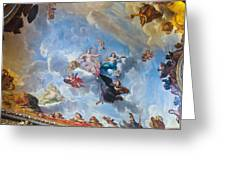 Palace Of Versailles Ceiling Art Greeting Card