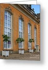 Palace Windows And Topiaries Greeting Card