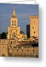 Palais Des Papes En Avignon. Greeting Card by Bernard Jaubert
