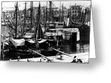 Palermo Sicily - Shipping Scene At The Harbor Greeting Card