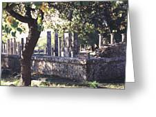 Palestra Olympic Site Greece Greeting Card