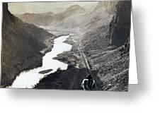Palisades Railroad View - California - C 1865 Greeting Card