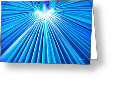 Palm Frond In Blue Greeting Card