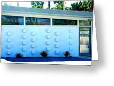 Palm Springs Modern Home Two Greeting Card