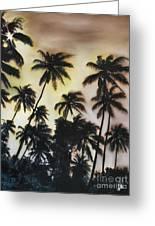 Palm Tree Sky Greeting Card