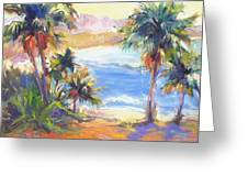 Palms And Ocean Greeting Card