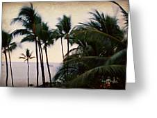 Palms In The Breeze Greeting Card