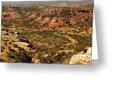 Palo Duro Canyon Texas Greeting Card
