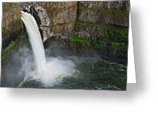Palouse Falls In Spring Greeting Card