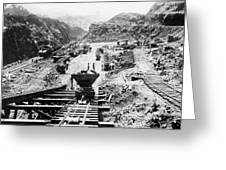 Panama Canal - Construction At The Culebra Cut - C 1910 Greeting Card