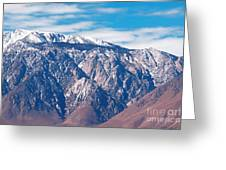 Panamint Mountain Range In Death Valley  Greeting Card