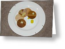 Pancakes And Eggs Greeting Card